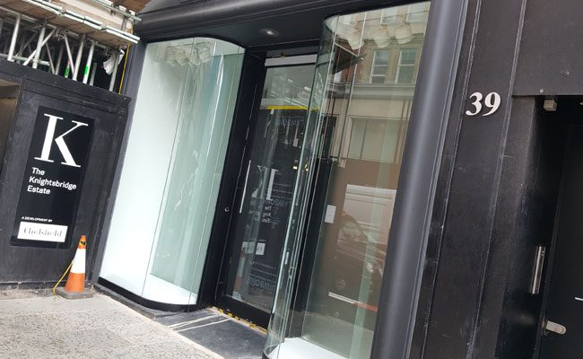 Curved Glass Shopfront